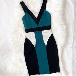New! Guess Color-block Body-Con Dress
